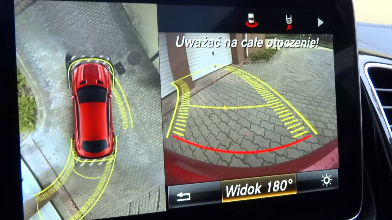 كيف تعمل منظومة ركن المركبات المدعومة بكاميرا ذات زاوية 360 درجة؟ - إشارات من الكاميرا المُضمَّنة في جسم المركبة - رفراف المركبة