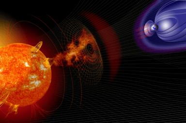 ما هو الطقس الفضائي وكيف يؤثر الطقس الفضائي على الأرض الأقمار الصناعية الرياح الشمسية الإشعاعات من الشمس الحقل المغناطيسي