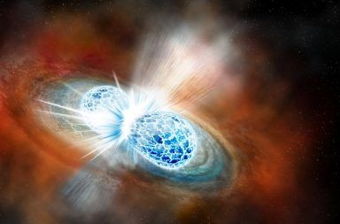 بقايا اصطدام نجم نيوتروني يحل لغز معدل تمدد الكون ما هو معدل تمدد الكون ما هي السرعة التي يتمدد بها كوننا إشارات موجات جاذبية معدل التمدد