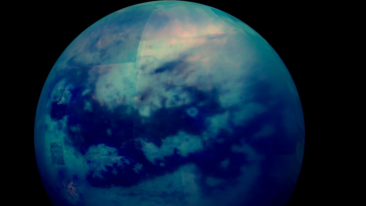 الخريطة الأولى لتيتان قمر كوكب زحل تكشف عن ميزات مدهشة - خريطو تايتان أحد أقمار زحل - خصائص وميزات قمر كوكب زحل الغازي تيتان
