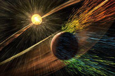 تخليق الحقل المغناطيسي الغريب المتصاعد من الشمس في المختبر الحقل المغناطيسي للشمس تدفقات البلازما الشمسية العواصف الشمسية