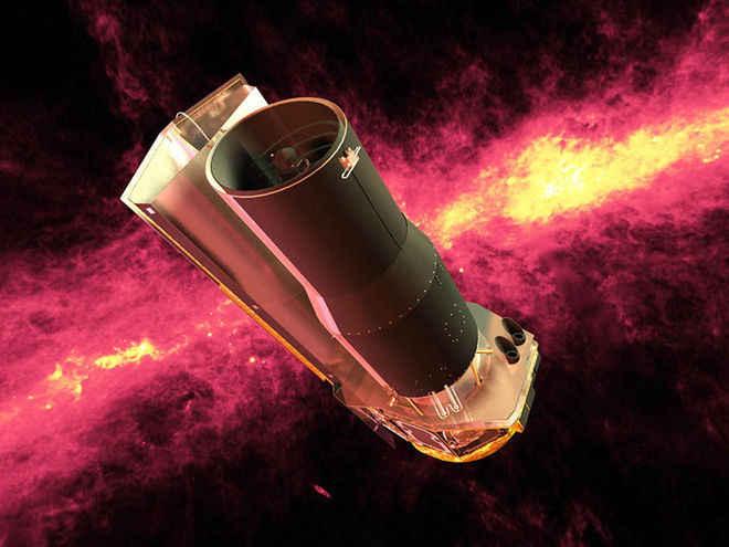 تلسكوب سبيتزر الفضائي : استكشاف السماء بواسطة الاشعة تحت الحمراء !