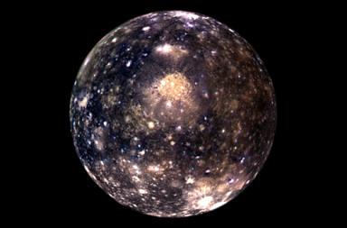 كاليستو القمر المشتري مهمة غاليلو