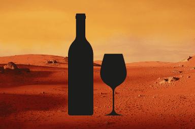 النبيذ على المريخ